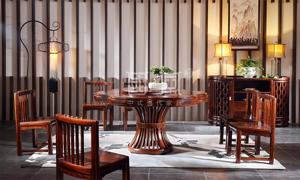 海纳百川餐台+海纳百川餐椅+海纳百川餐边柜
