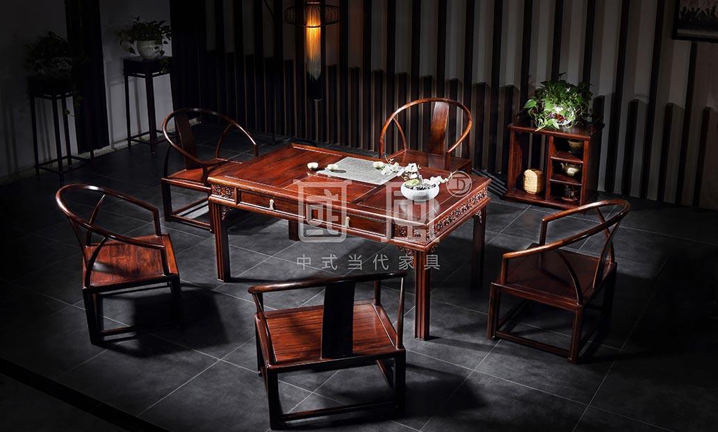 硕风茶台+纳风休闲椅+茶水柜